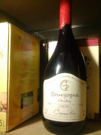"""Magnum de CHITRY rouge """"Cuvée Aloïs"""" 2010 de chez Clément BIOT,propriétaire récoltant à CHITRY (89).19€ la bouteille."""